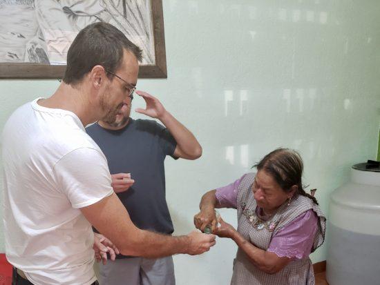 Everardo Garcia's Mother Pouring Mezcal[1]
